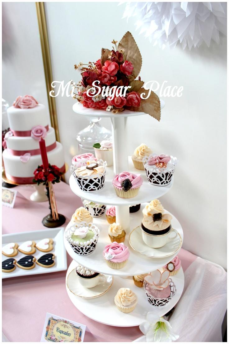 Nuestro stand de cupcakes
