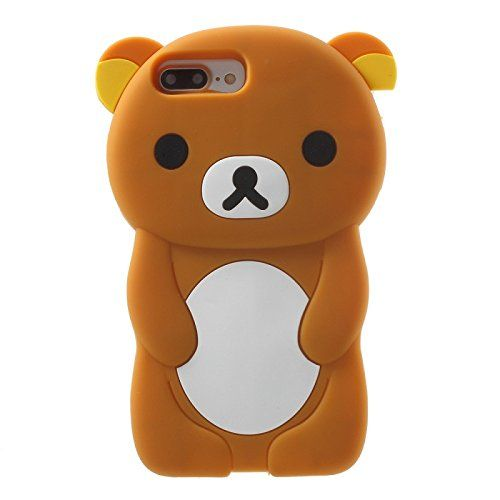 Amazon.com: iPhone 5/5S/SE/6/6S/7/7+ PLUS Case, 3D Brown Teddy Bear Soft Silicone Rubber Cover Protective Skin (iPhone 7 PLUS): Cell Phones & Accessories