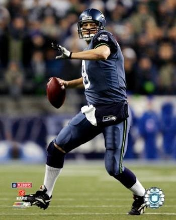 Matt Hasselbeck guided the franchise to its first ever Super Bowl appearance in 2005, where the 'Hawks came up short to the Pittsburgh Steelers 21-10 thanks in part to a host of blown calls by head official Bill Leavy. During his ten-year stay in the Emerald City (2001-10), Hasselbeck amassed a host of franchise career passing records, the majority of which he still holds. As of 2013, he was with the Indianapolis Colts, backing up and mentoring future NFL legend Andrew Luck.