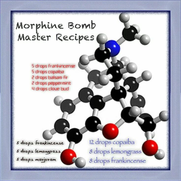 Morphine Bomb master blend essential oil recipes. Please dilute with a carrier oil accordingly.