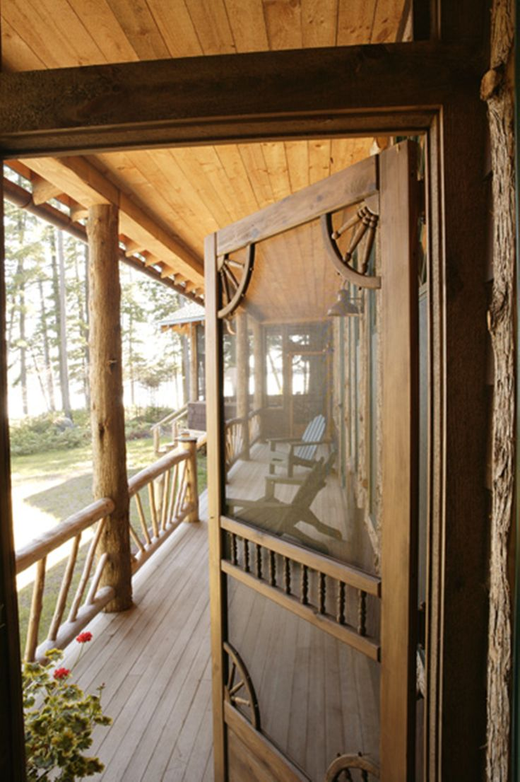Cabin Porch Screen Door Cabin Stuff Pinterest The