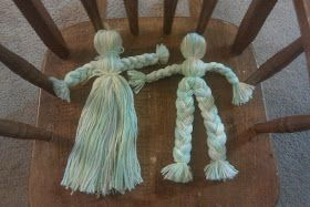 Simple Natural Living, At Home Creating, Forever Believing: How To Make Yarn Dolls *