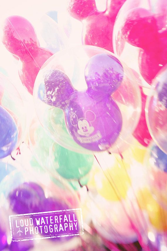 Disneyland Mickey Balloons Colorful Child's by #LoudWaterfallPhoto #etsy #fpoe