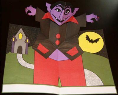vampire pop up card