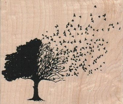 Hey, I found this really awesome Etsy listing at https://www.etsy.com/listing/123688821/rubber-stamp-leaves-blowing-from-tree