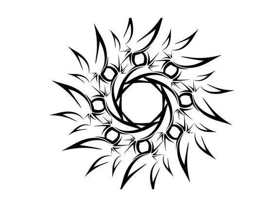 Tribal Sword temporary tattoo design – 2×3 inch   – Temporary Tattoos