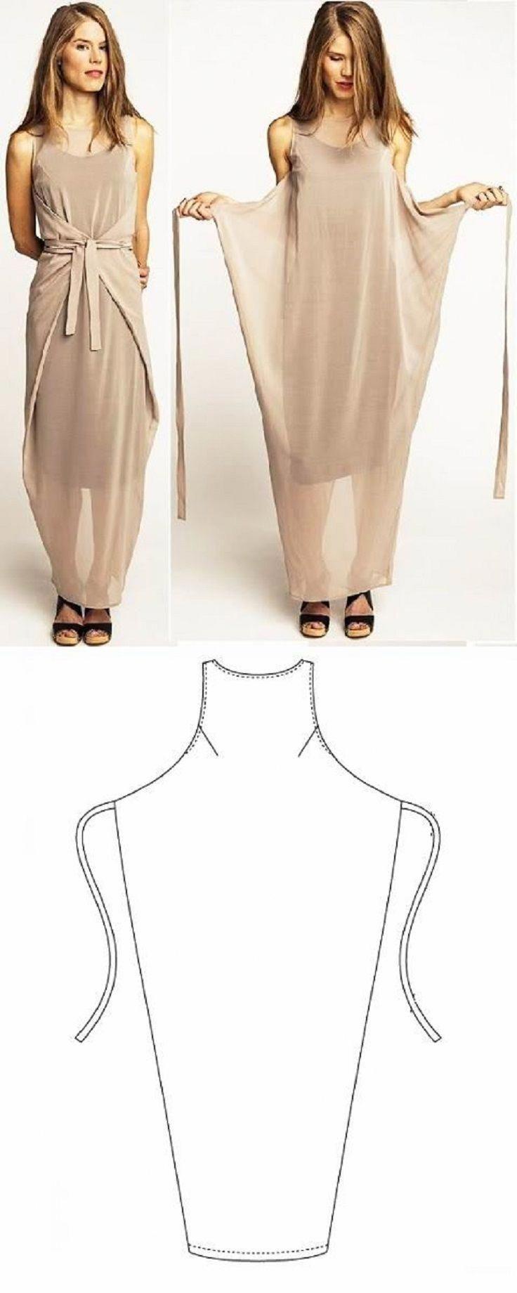 Simple DIY Wrap Dress - 10 Fashionable DIY Dress Sewing Patterns ...