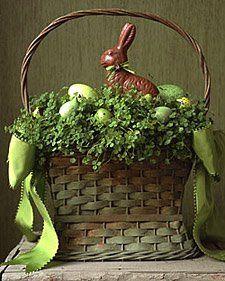 easter basket - so elegant