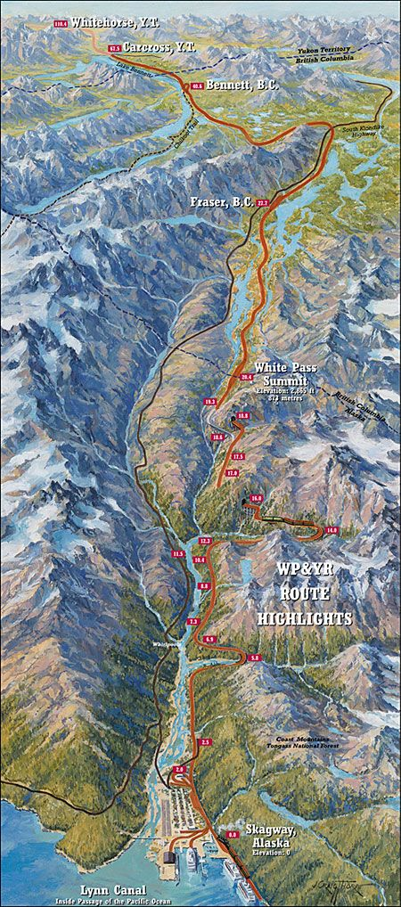 Route Map White Pass Yukon Route Alaska S Most Popular S Excursion