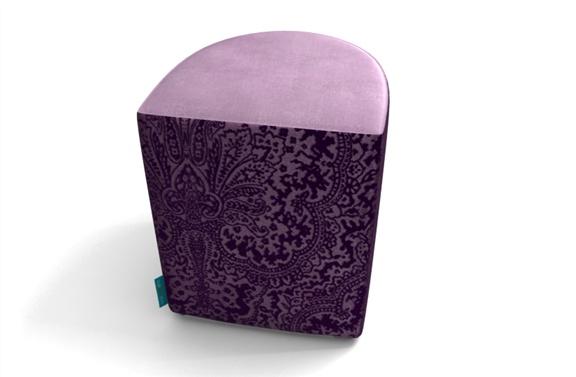 Luna - halfround velvet ottoman. over 70 different velvets by TheVelvetlab®