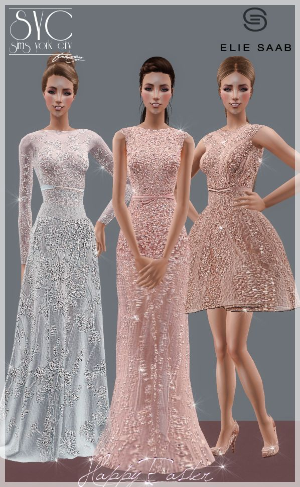 Sims York City: Happy Easter!!! Gifts signed Elie Saab