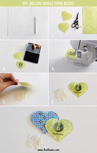 tutorial bolsas arroz para bodas