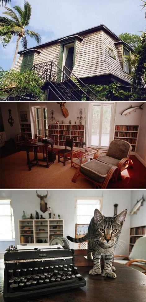 Hemingway house..... e.h. writing room six-toed cats.......  I soaked it up