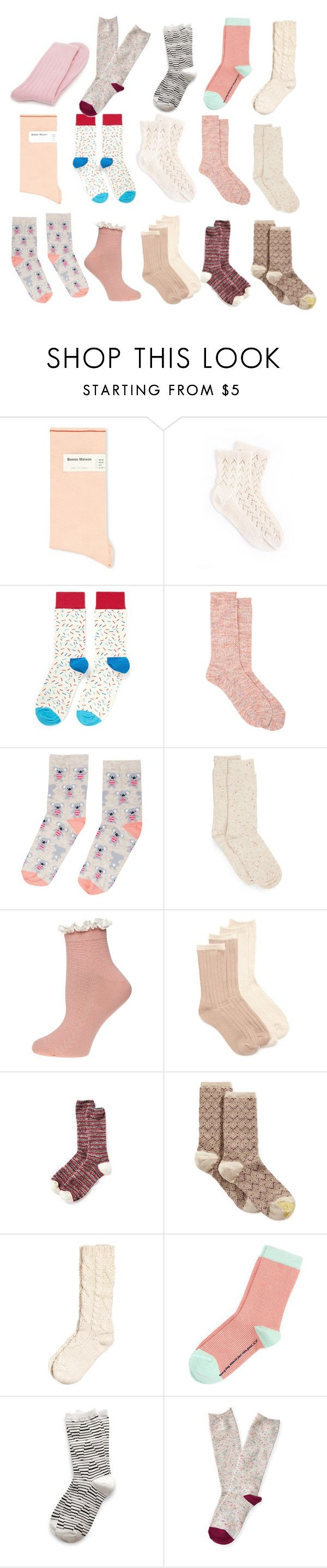 sock love by dodo85 on Polyvore featuring Antipast, Ted Baker, Bonne Maison, Aéropostale, Richer Poorer, Happy Socks, New Directions, Gold Toe, H&M and Accessorize