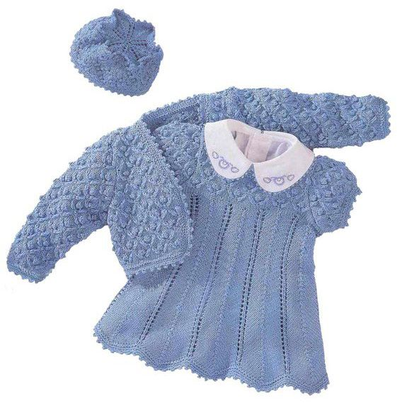 Болеро, платье и шапочка для детей