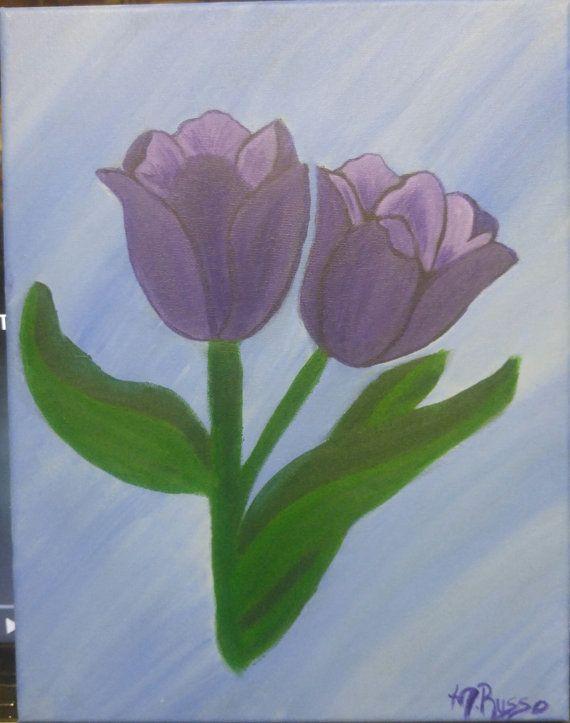 Lovely Tulips by melacrylics on Etsy