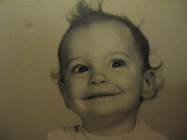 Charles Manson as a baby. Never knew a baby could look psychotic.  Haunting.