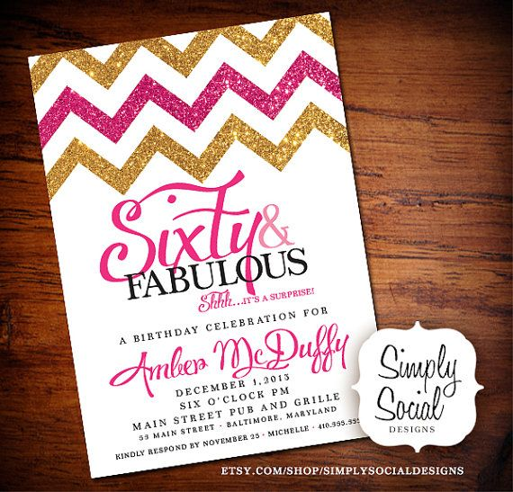 glitter chevron birthday invitation by simplysocialdesigns party