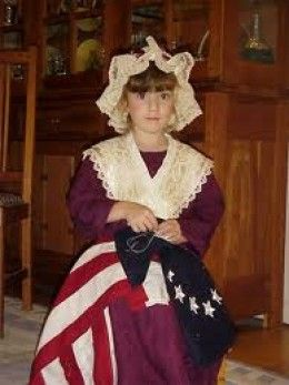 Little Girl as Betsy Ross  http://peachesandcream.hubpages.com/hub/HandmadeBetsyRossCostumes