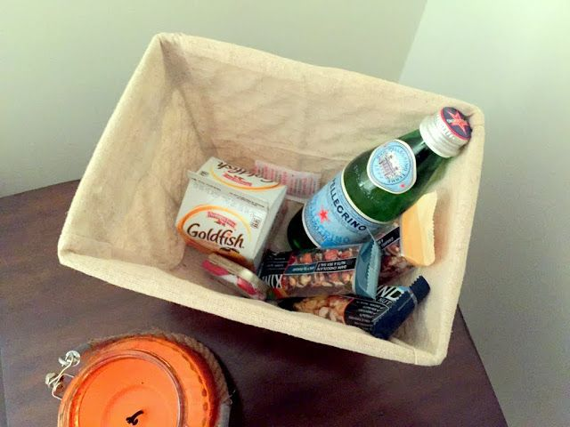 Create a gift basket in your guest room for travelers to have what they need to get comfy!