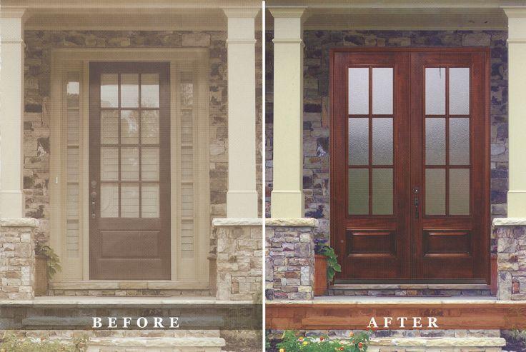 Mahogany Front Entry Doors Atlanta Decatur Leaded Glass Entrance Renovation D