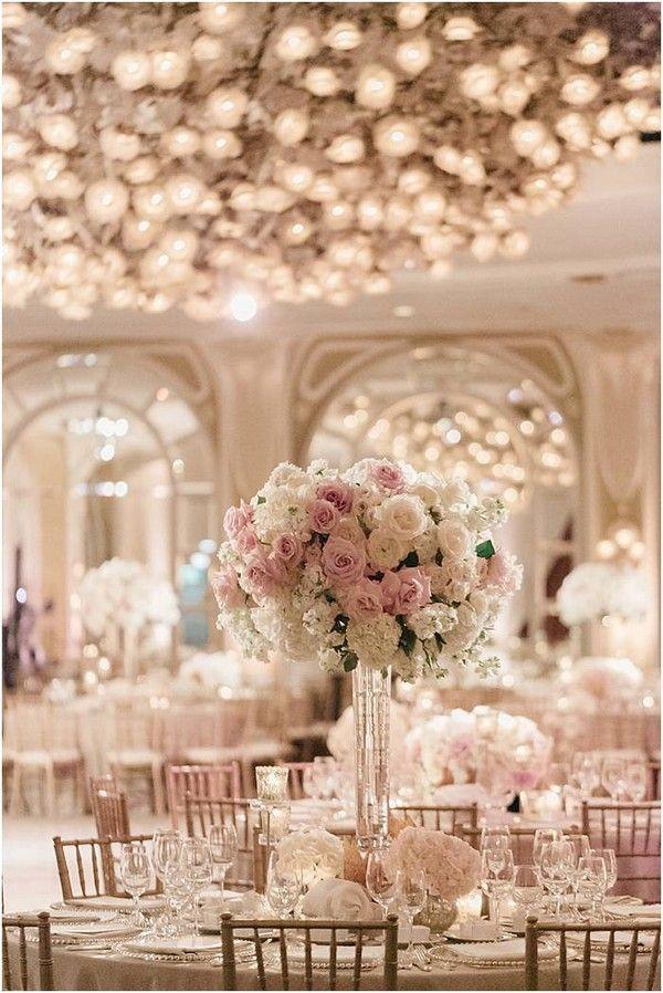Elegante Rosa Hochzeit Tisch Einstellungen Inspiration In 2019