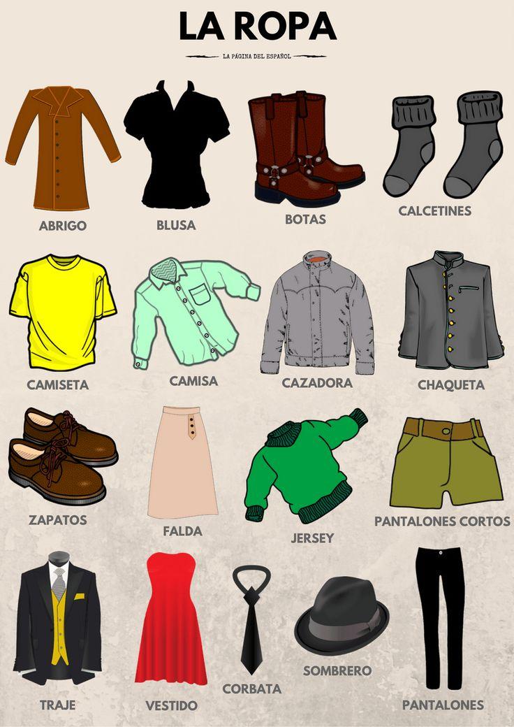 Vocabulario: La ropa | La página del español
