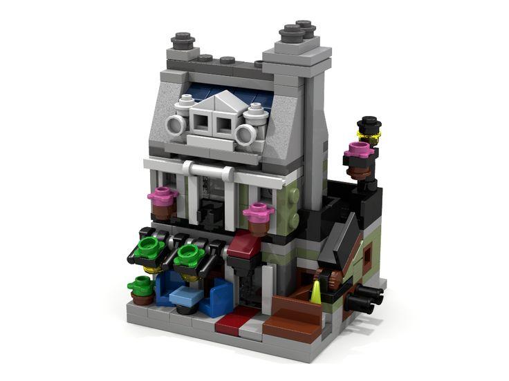 My Mini Modular version of the LEGO Creator Parisian Restaurant modular building,