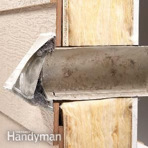Dryer Vent Cover Repair | The Family Handyman