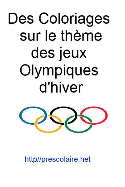 Divers liens vers des sites offrant du coloriage sur le thème des jeux olympiques d'hiver.