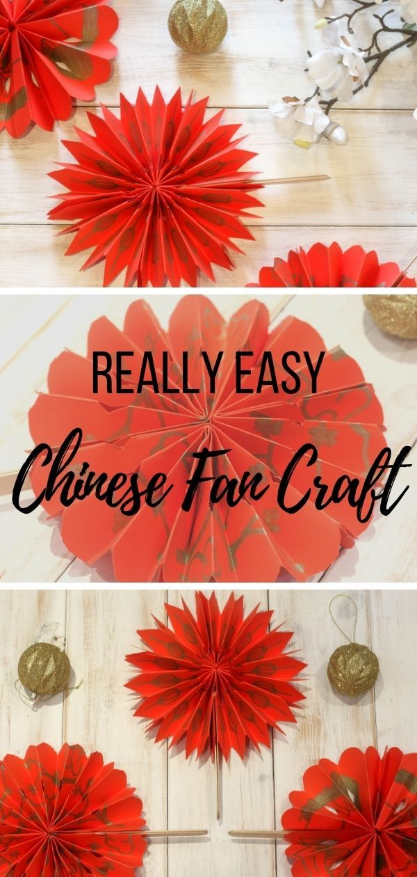 Easy Chinese Fan Craft For New Year Chinese New Year Crafts For Kids Chinese New Year Crafts Chinese Crafts