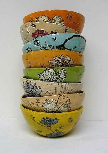 stacked bowls by Diana Fayt