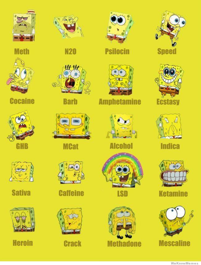 #Spongebob on different #drugs #High #SUPERHIGH