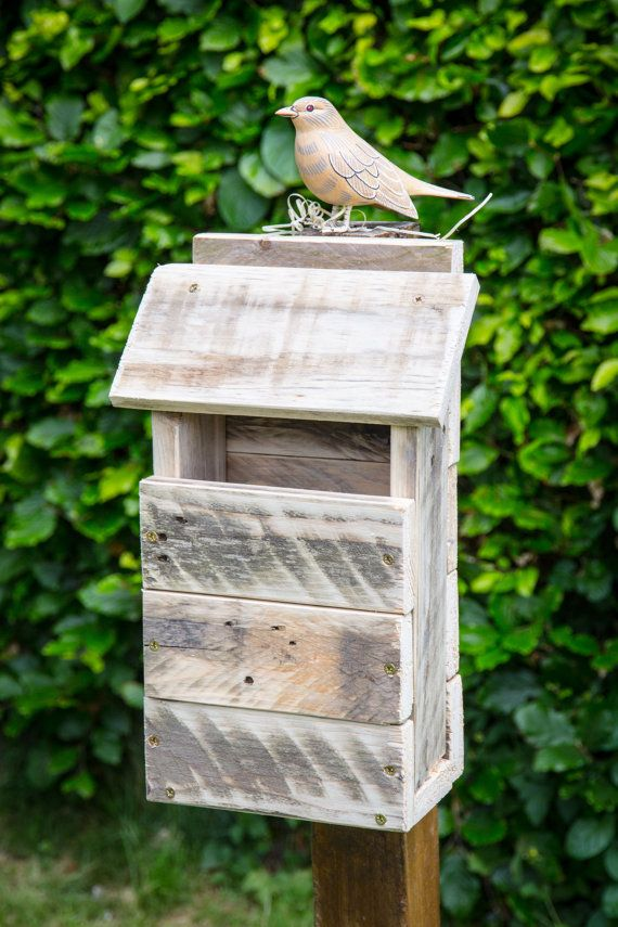 Rustic Bird House/Bird Box made from reclaimed by PalletGenesis