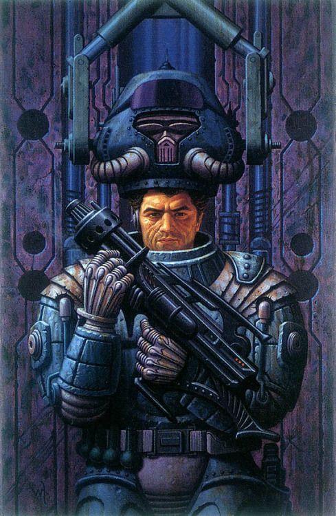 Starship Troopers,Robert A. Heinlein. Cover Art