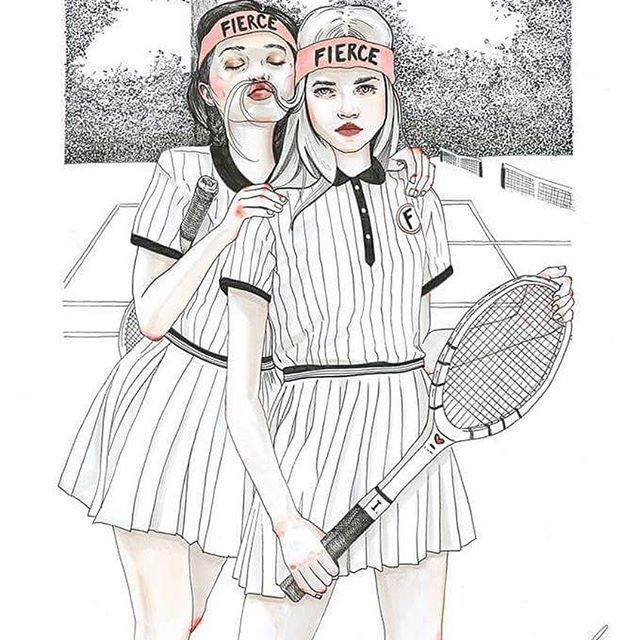 Romantic ideals are all nice and well, but go ahead, lean on them and see whether you'll still find yourself standing.  #illustration #girl #copic #copics #copicmarker #multiliner #lineart #copicmultiliner #bw #headband #girlpower #skirt #pinstripe #fashion #drawing #stippling @copicmarker