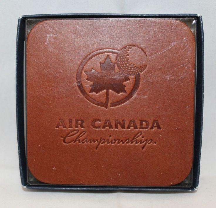 Air Canada Championship PGA Tour Golf Set of 6 Leather Coasters Souvenirs (A)