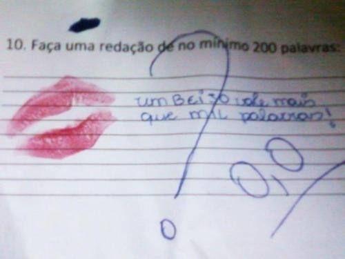 Um beijo vale mais que mil palavras rsrsrs