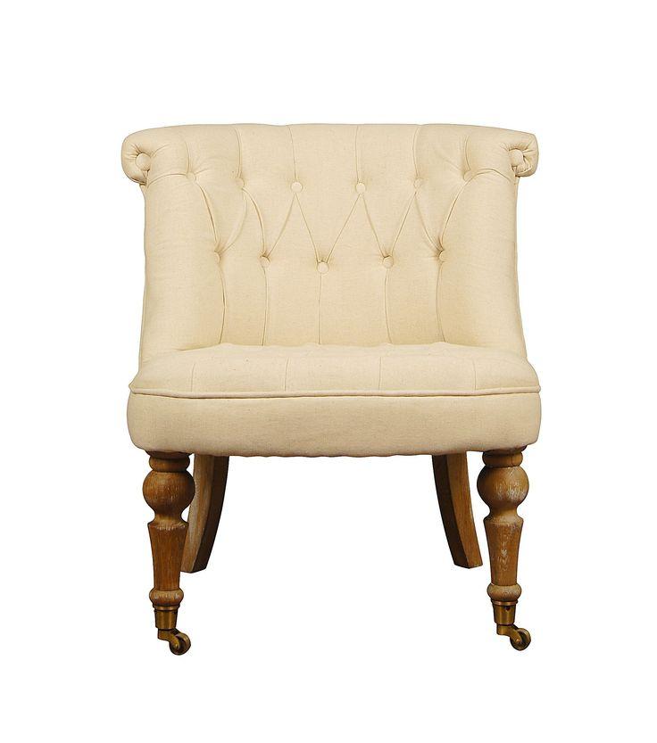 Чрезвычайно мягкое и уютное кресло без подлокотников — выбор тех, кто ценит комфортный отдых. Расширенное основание позволяет разместиться человеку любой комплекции, а массивная спинка не дает спине устать даже после нескольких часов сидения. Обратите внимание на ретро-дизайн изделия: выполненное в бежевом цвете и декорированное пуговицами, оно излучает мягкую роскошь. Как и все, что выходит из-под рук французских столяров, эта модель не только красива, но и прочна.             Метки: Кресла…