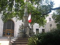 Confederate memorial on the grounds of the Caddo Parish Courthouse