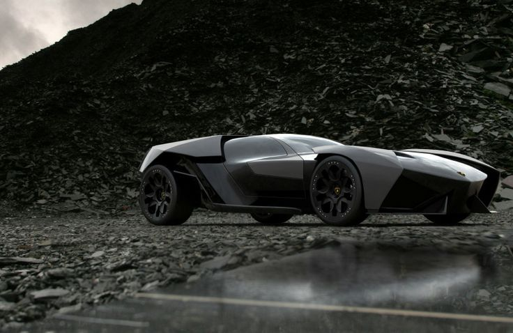 The #Lamborghini Ankonian Concept by Slavche Tanevski. Also known as a hellish #Batmobile that will terrorize your nightmares.