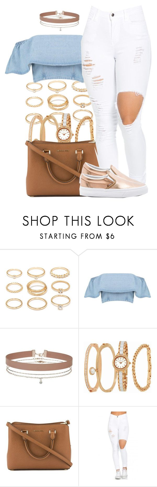"""99"" by trinsowavy ❤ liked on Polyvore featuring Forever 21, Boohoo, Miss Selfridge, Anne Klein, Michael Kors and Vans"