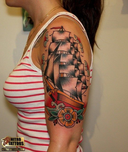 Tattoo Ideas Classic Ships Piercing Ideas Tattoo: 30 Best Images About Boat Tattoo On Pinterest