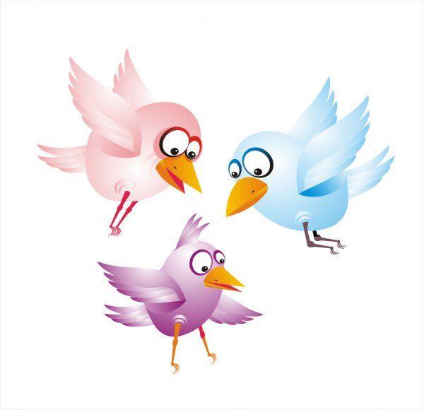 Aves Graciosas Ilustracion De Stock En 2020 Pajaros Animados Ilustraciones Ilustracion Vectorial