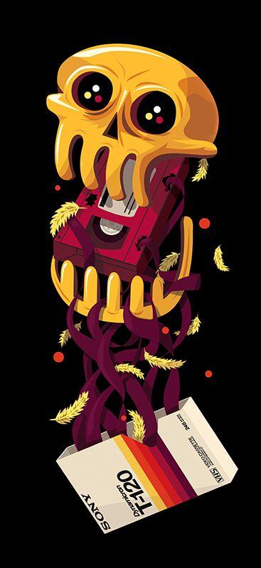 RGB Dreams - Owl John Gig Poster by pierre kleinhouse.