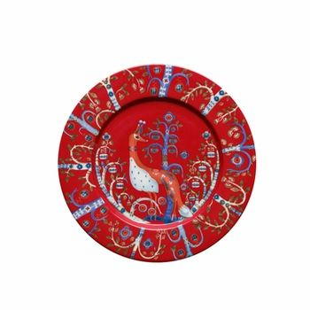 How gorgeous would these be for a holiday meal place setting? iittala Taika Red Salad Plate - $33