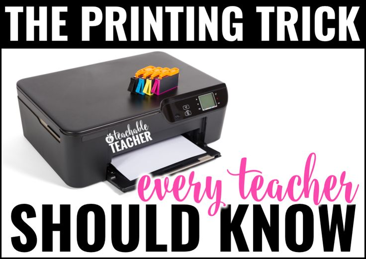 Printing trick with endless ink for teachers (with list of eligible printers and link to sign up)