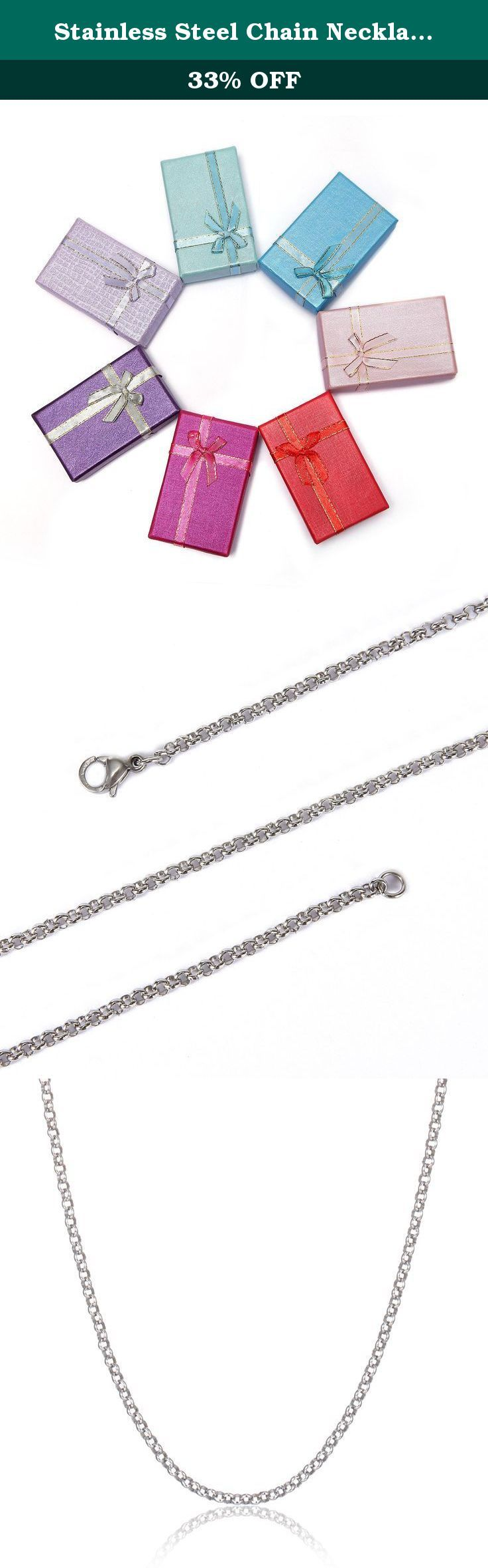 Stainless Steel Chain Necklace BRCbeads 2.5mm Round Shape 20 Inch With Loster Claw Clasp 10pcs per Bag. BRCbeads Brand Discover BRCbeads of fashion jewelry. Our team of designers and manufacturers deliver the pieces you want¡ªto our quality levels and for our great price. We believe in limited cost and unlimited possibilities. We have the best guarantee in the business on or off Amazon. We only focus on online business and so we pass on the savings we get on no rent and other bills to YOU...