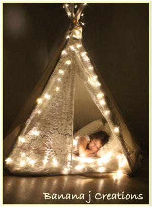 tee pee with lights twinkle twinkle from Banana j Creations