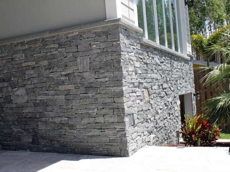 Greenwich Gray | Ledgestone | Thin Stone Veneer | Natural | Stoneyard.com - want to side our foundation like this, looks beautiful!